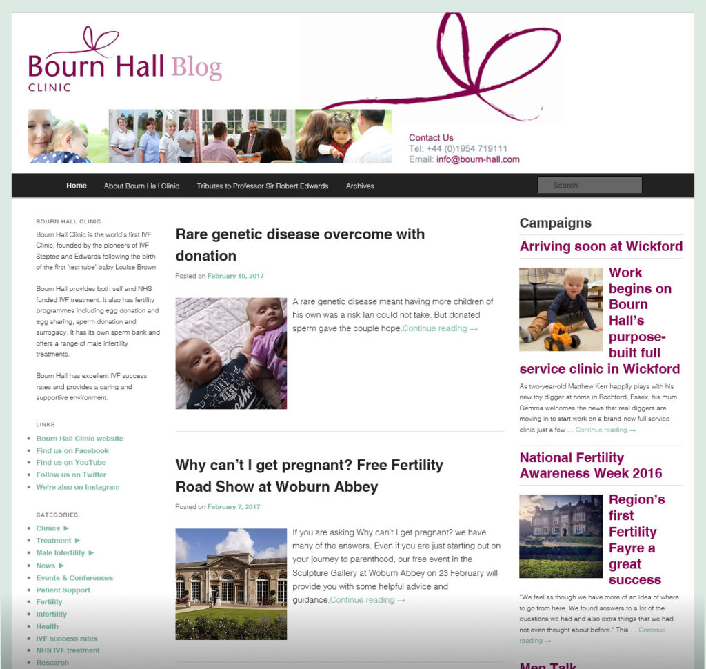 Social media for Bourn Hall Clinic: Ensuring a consistent social media presence