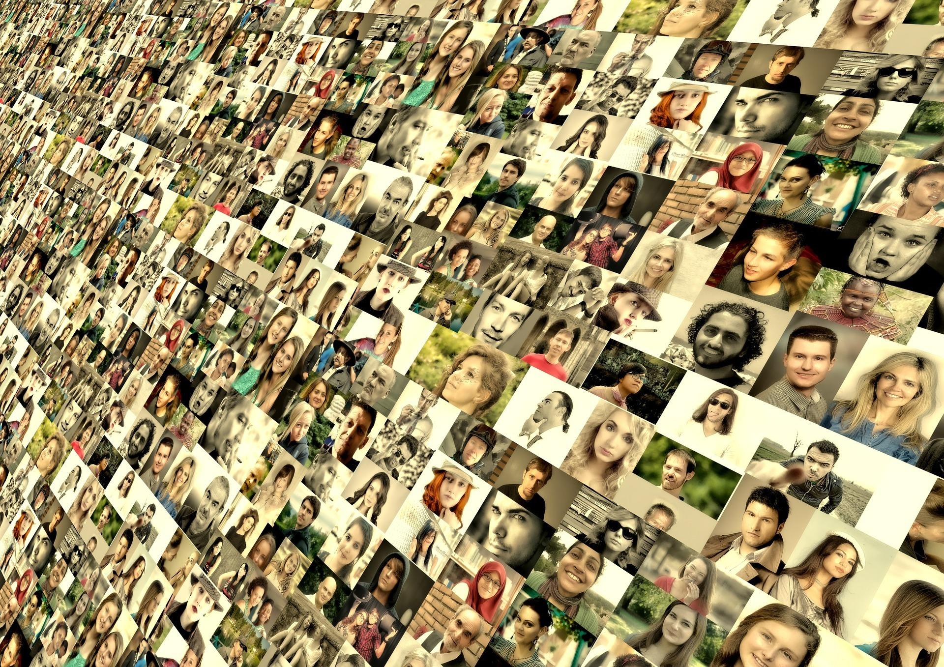 Digital strategy social media photo montage