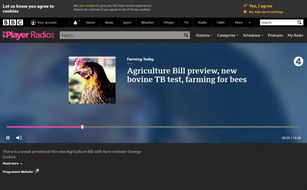 BBC Farming Today - Actiphage TB test