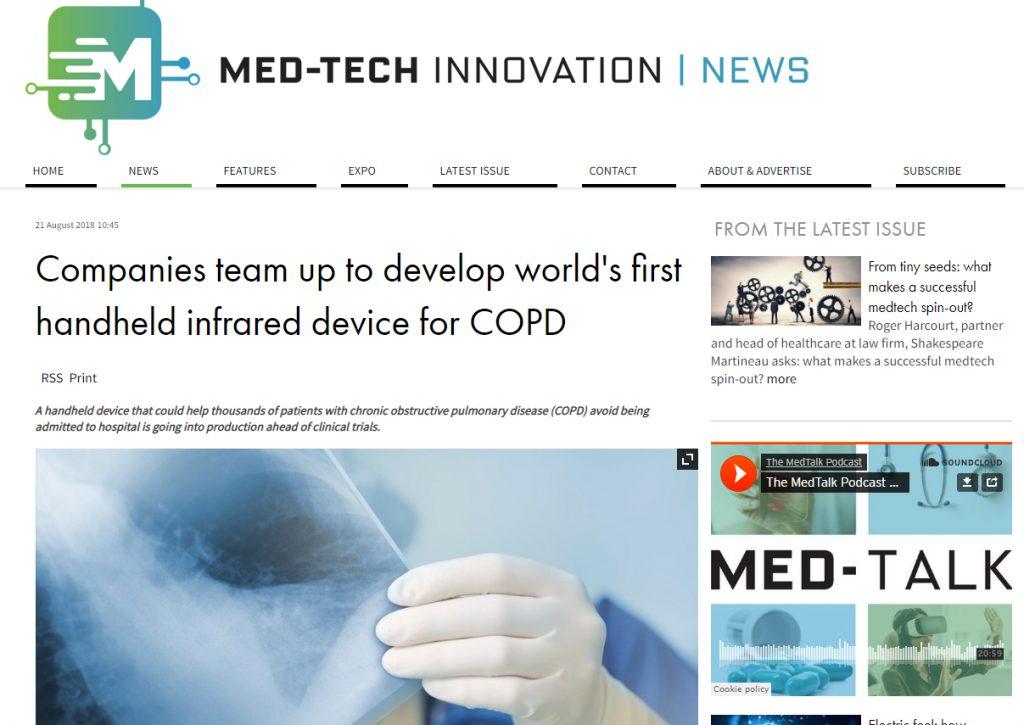 Med Tech Innovation Glyconics new COPD device